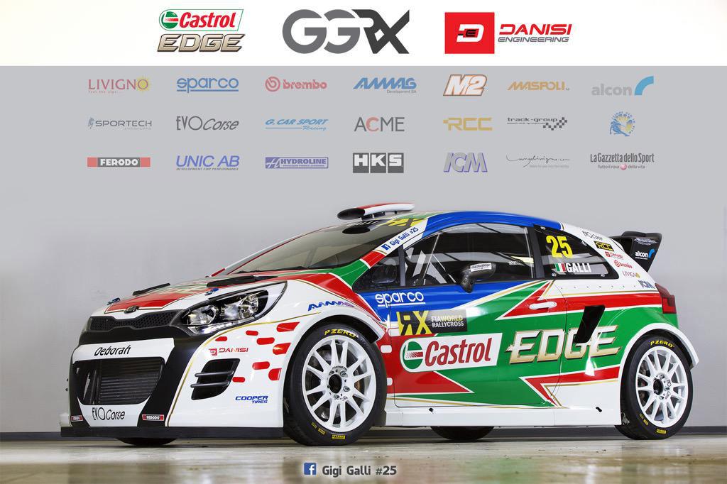 Gigi Galli En World Rallycrossrx Avec Kia