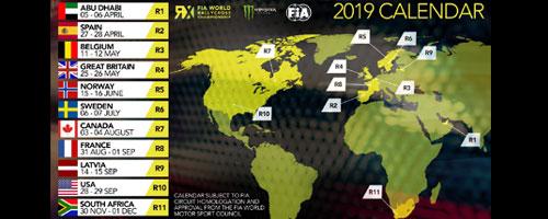 Calendrier officiel de la saison WRX 2019
